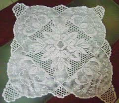 Filet Crochet Pattern Square Doily Tablecloth Chart