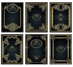 vine golden frame for design