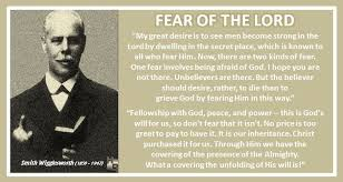 Smith Wigglesworth Quotes Gorgeous Fear Of The LORD Smith Wigglesworth Quote Quotes Hymn Revival