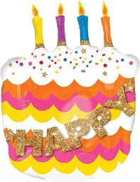 Shop 27 Happy Birthday Cake Balloon Free Shipping Instaballoons