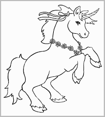 Prettier Stocks Cute Unicorn Coloring Pages Best Kids For Outline
