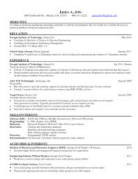 Sample Resume For Electrical Engineer In India Refrence Internship