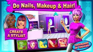 sunnyville salon game play free hair nail make up games screenshot
