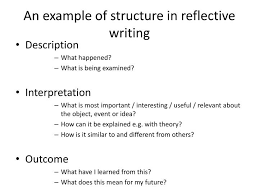 ppt the art of reflection powerpoint presentation id  an example of structure in reflective writing