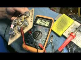 testing a 50s style les paul wiring harness with a multimeter by  at How To Check Wiring Harness With Multimeter