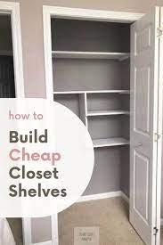 how to build easy small closet shelves