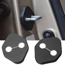 2 x Black Auto Car Door Lock Protective Cover Kit For Toyota Honda