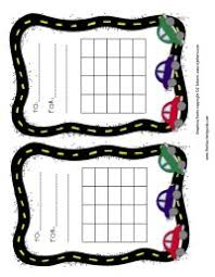 Race Car Incentive Chart Instant Download Printable