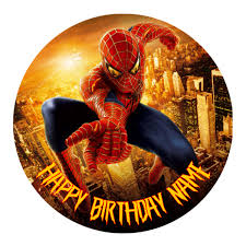 Spiderman Edible Cake Topper Viparty