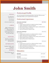 11 One Page Resume Format Doc Professional Resume List