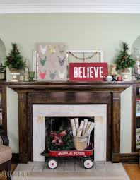 fireplace mantel decor ideas and pictures jen joes design image of diy  christmas decorations to do ...