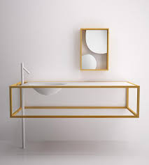 minimalist furniture. View In Gallery Nendo Bathroom Furniture Bisazza Bagno 1 Minimalist Larch Wood By G