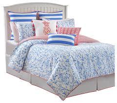 southern tide coastal ikat full cool water blue comforter set