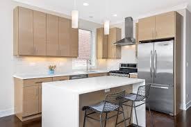 Light Wood Kitchen Cabinets Modern Modern Kitchen With Dark Hardwood Floors Light Wood