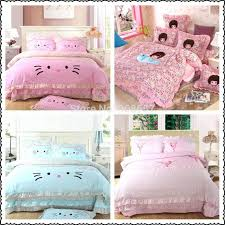 Lace Quilts Bedspreads Cute Multicolor Character Print Applique ... & Lace Quilts Bedspreads Cute Multicolor Character Print Applique Lace  Bedding Set Childrens Kids Home Decor High Adamdwight.com