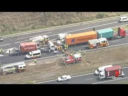 3 Trucks Crash on M7 - Trapped & Critical - YouTube