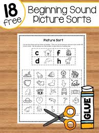 Vip members can download our new phonics workbook & poster book. Beginning Sound Picture Sorts The Measured Mom