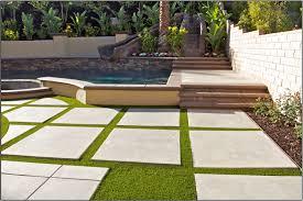 artificial grass concrete home js landscape construction