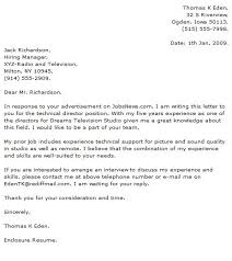 Technical Letter Sample Cover Letter Technical Support Quotes