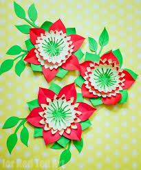 Homemade Paper Flower Decorations Pretty Paper Flowers Diy Including Template Red Ted Arts Blog