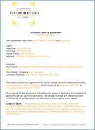 contract letter how to write an interior design letter of agreement contract
