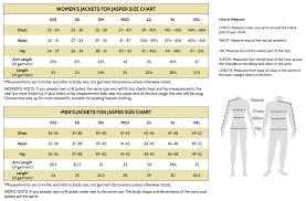 Jacket Measurements Chart Jacket Measurements Jackets For Jasper