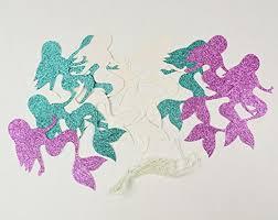Purple Happy Birthday Banner Purple Teal Mermaid Party Supplies Mermaid Gltter Paper Garland Teal