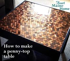 how to make a penny top table