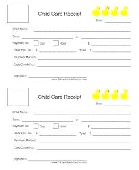 Child Care Receipt Fsa Receipt Template Childcare Receipt Template Dependent Care