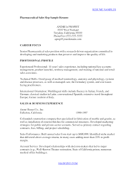 Alluring Pharma Sales Resume Template In Sample Resume For
