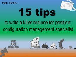 Sample Management Specialist Resume Configuration Management Specialist Resume Sample Pdf Ebook