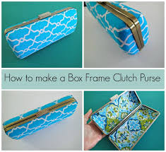 how to make this box frame clutch purse i didn t know it was