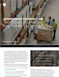 Stories from the Front Line: The Cloud Addresses Key Trends in ...