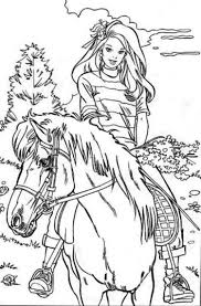 Barbie Horse Coloring Pages Printable 16 Colors Of Pictures
