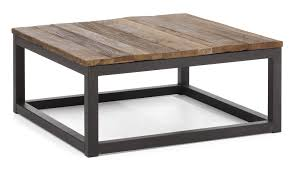furniture rectangle brown wooden coffee table with rectangle black base presenting amazing adjule height