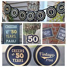 50th birthday party decorations. 50th Birthday Party Decorations 5 Piece Decor Box Bunch Ideas Of Black