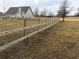Farm fence Woven Wire Goat Fence Post Time Services Farm Fencing Elite Fence Deck