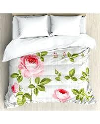 fl duvet covers fl duvet cover set vintage rose petals leaf with pillow shams pink fl