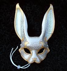 splicer mask papercraft venetian rabbit mask v4 handmade leather rabbit mask