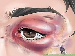 image led make a black eye with makeup step 9