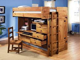 office bunk bed. Rustic Bedroom Design With Cheap Minimalist Twin Stair Bunk Bed, Integrated Narrow Office Desk Underneath Bed