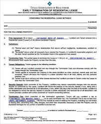 Sample Lease Termination Agreement 11 Examples In Word Pdf