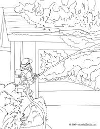 Fireman Extinguishes Fire Coloring Page Sam Pages Pdf Penny ...