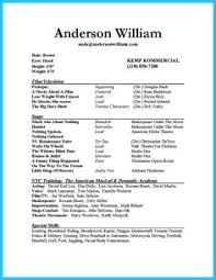 actor resume sample presents how you will make your professional or beginner actor resume the beginner acting resume sample
