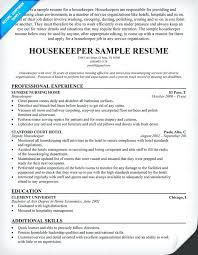 Housekeeping Job Resume Best Of Housekeeping Resume Sample Housekeeper Resume Example Images