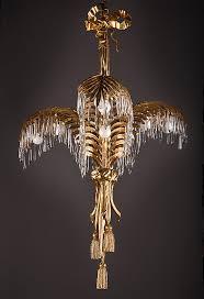 gilt bronze palm tree chandelier galerie atena