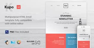Kupo - HTML Email Template + Builder 2.0 by Maileden | ThemeForest