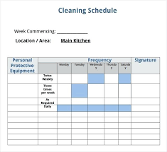 House Cleaning Checklist Template Schedule Templates Classy Likeness ...