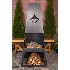 ember haus ember max steel wood burning outdoor fireplace reviews wayfair