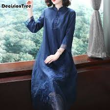 <b>2019 chinese traditional</b> costumes women loose qipao <b>dress</b> ...